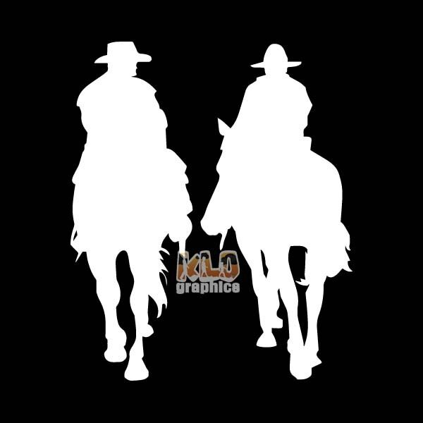 COWBOYS Western Rodeo Car Truck Window Vinyl Sticker Horse Riding RANCH