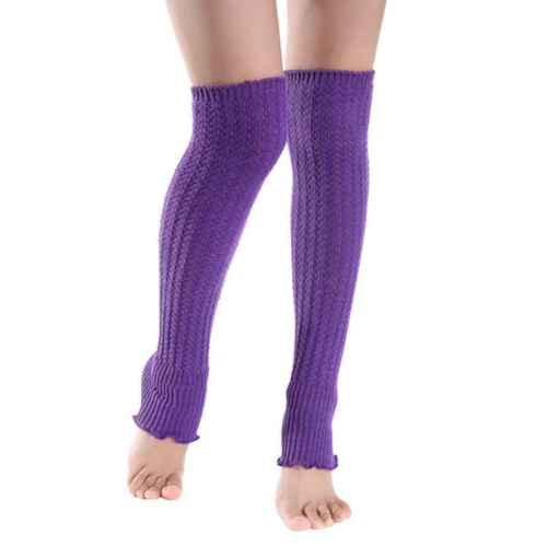 Women Peplum Frill Long Boot Socks Over Knee Thigh High School Girl Stocking