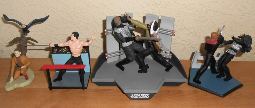 4 superbes dioramas STAR TREK Applause 3 Deep Space Nine (Odo+Sisko+Worf) + Sulu