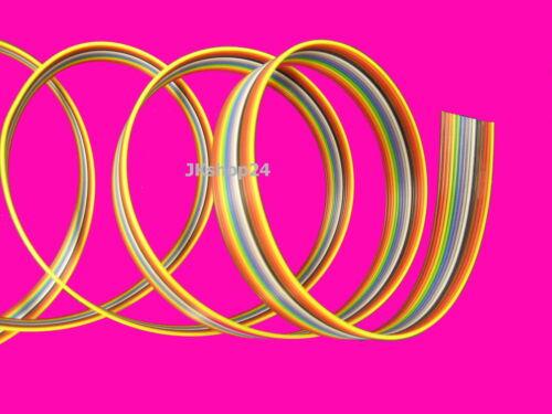 Cable plano 14-conductores//polos cinta tubería awg28//1 27 mm de colores IEC-código de color