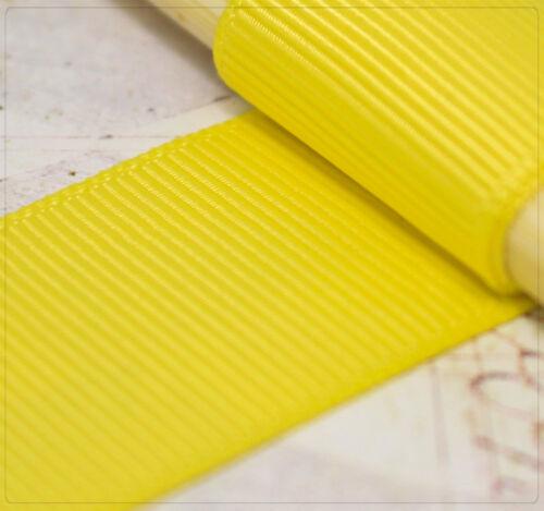 2m grosgrain cenefa decorativa dekoband coser amarillo ancho 7//10//16//25//37 mm