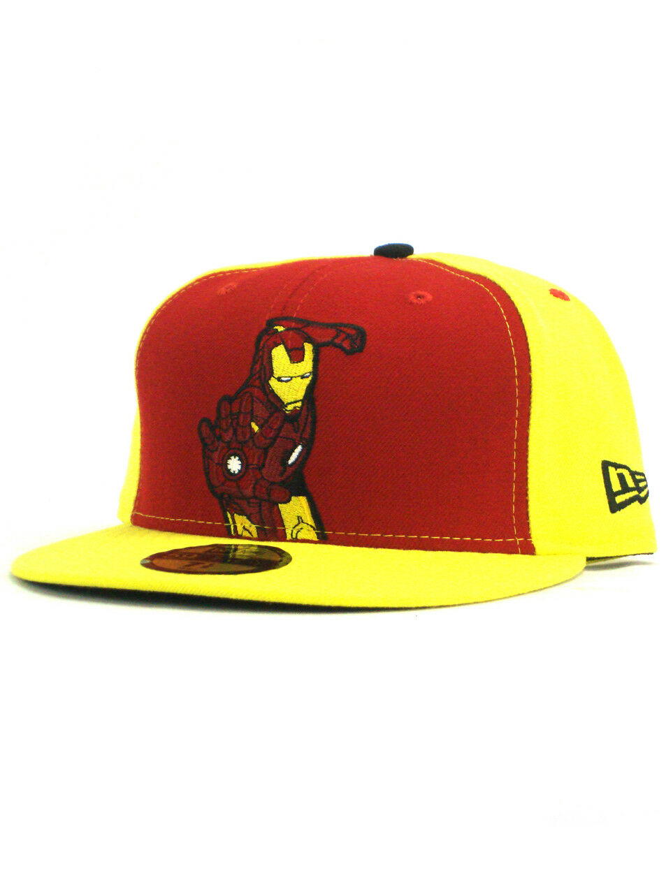 New Era Iron Custom Man 59fifty Custom Iron Fitted Hat Size 7 1/2 Classic Repulsor Blast NWT a1bc95