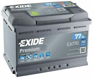 Exide-Autobatterie-77AH-12V-Premium-Carbon-Boost-EA770-ersetzt-72Ah-74Ah-80Ah