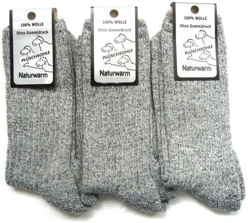 3 Paire de Chaussettes Norvégiennes 100/% laine wandersocken Sans Caoutchouc Gris 39 à 50