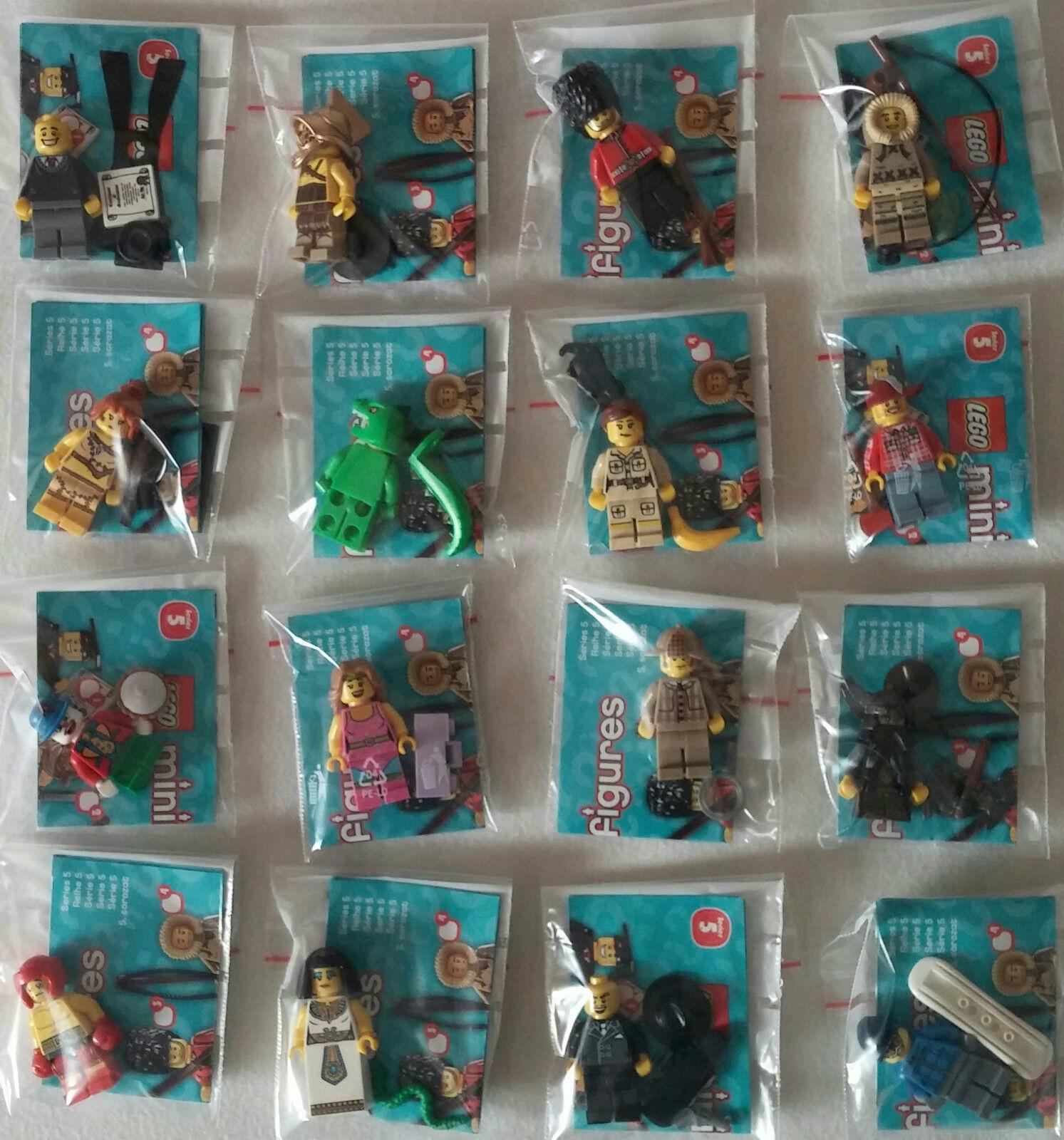 LEGO® 8805 Minifiguren Serie 5 Komplett Satz alle 16 Figur  Neu unbespielt