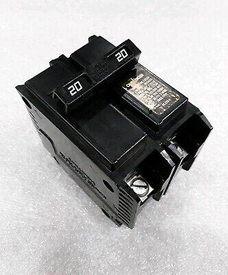 flawed C220 Challenger Type E Circuit Breaker 2 Pole 20 Amp 240V
