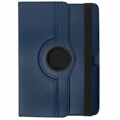 Costruttivo Borsa Custodia Book Case Rotated Per Samsung Galaxy Tab 3 8.0 Sm T3110 Blu Lustro