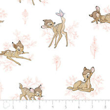 Camelot Disney Bambi Toile Pink Chai 100% cotton fabric by the yard