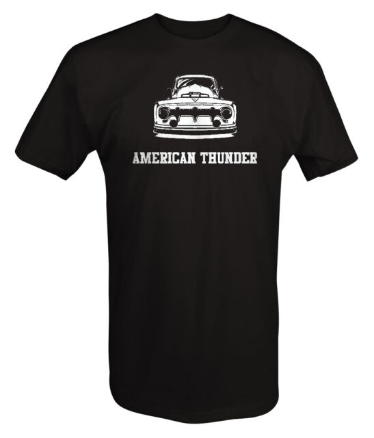T Shirt -American Thunder Classic Truck Ford Chevy Lowered ...