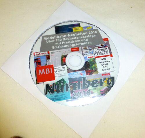 auf CD Märklin Roco Fleischmann Tillig Trix Faller Neuheitenkatalog 2016 LH6 µ