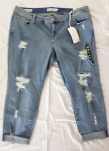 720bbca8cbe Image is loading NEW-TORRID-BOYFRIEND-JEANS-LIGHT-WASH-RIPPED-DESTRUCTION-