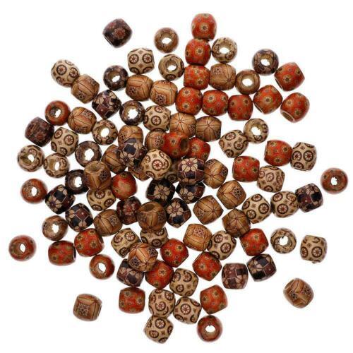 Rare Genuine Wooden Mixed Pattern Japanese Ojime Netsuke old Beads Pendant 12mm