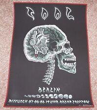 Tool silkscreen concert poster Berlin 2006 EMEK skull scratchboard