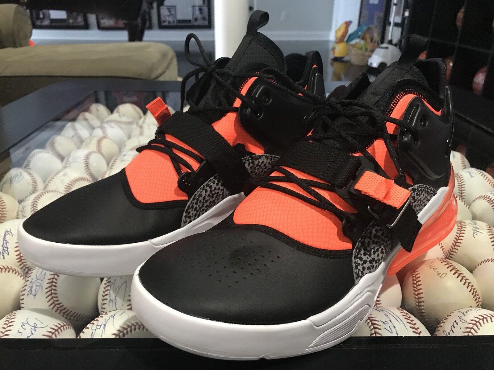 Nike Air Force 270, Black Hyper Crimson Wolf Grey, AH6772-004, No Lid, Size 14