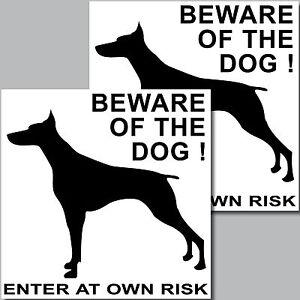2-pezzi-STICKER-ADESIVO-BEWARE-OF-THE-BIG-DOG-Vorsicht-DAVANTI-A-dem-cane-cani