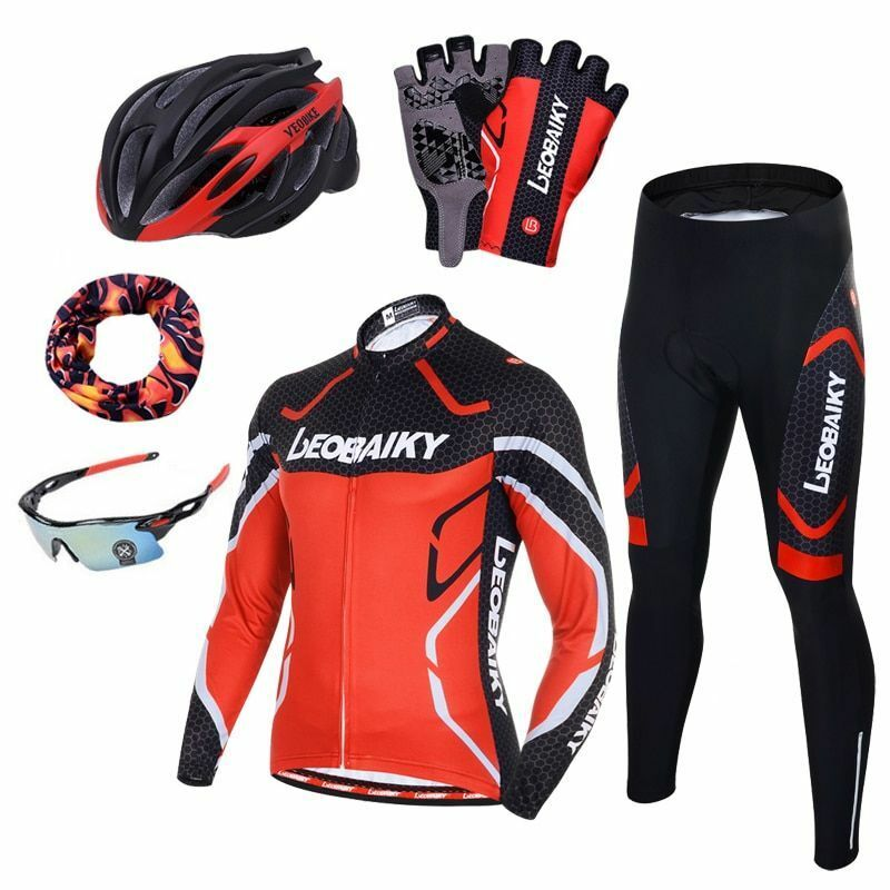 769def82d Men s Riding Clothes Pro Team Cycling Clothing Long Sleeve Bicycle Jersey  Set