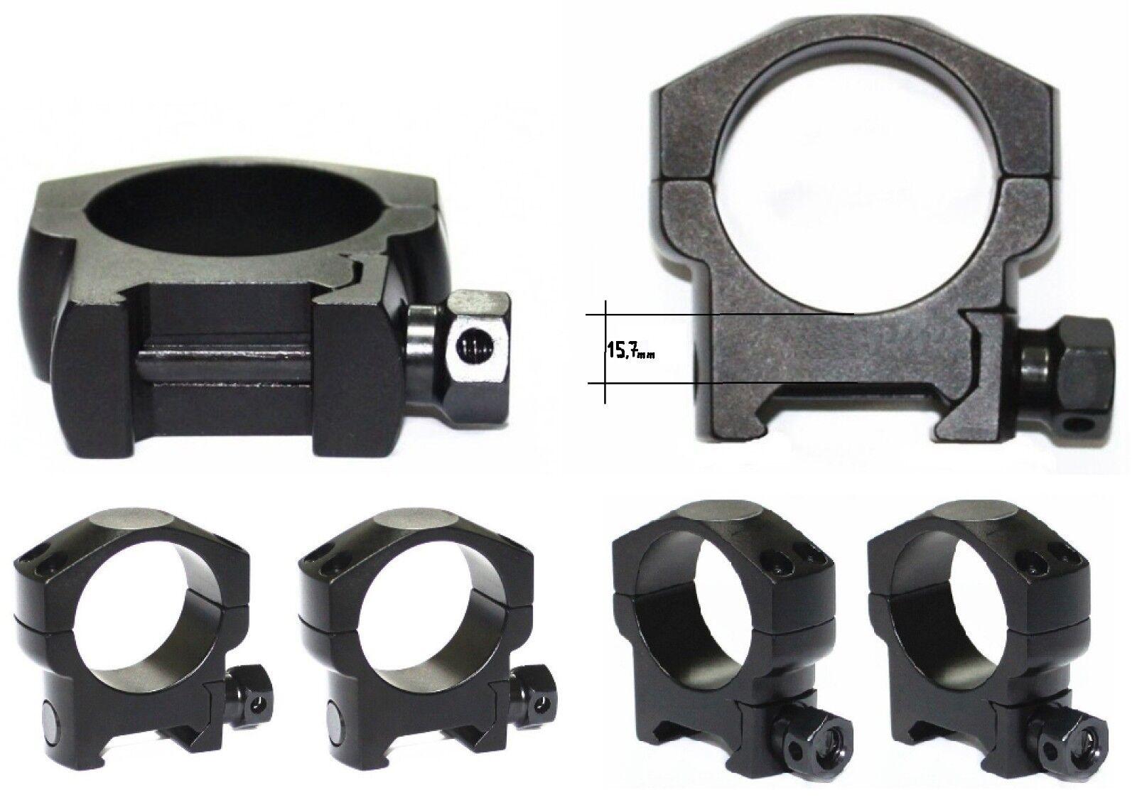 Anillas Altas Picatinny para Visores 30 mm de diámetro  Caza Rifles