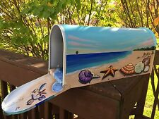 Hand Painted Mailbox Beach Shells,beach,Seastar,Nautical,Ocean