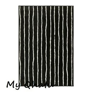 ikea gorlose black white area rug carpet low pile new sealed ebay. Black Bedroom Furniture Sets. Home Design Ideas