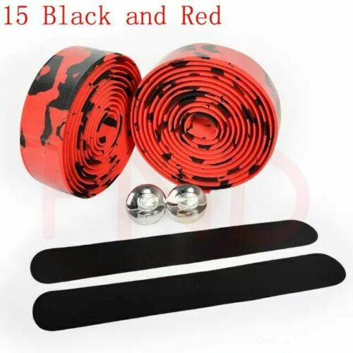 Bicycle Handlebar tape Camouflage Cycling Handle Belt Cork Wrap with Bar Plugs T