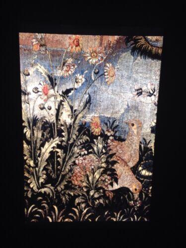 "Tapestry /""Hunt Of The Unicorn Part 3 Detail/"" Flemish Art 35mm Glass Slide"
