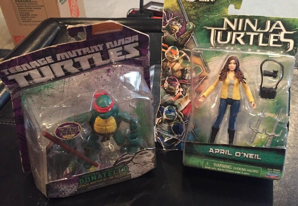 2014 teenage mutant ninja turtles 4  action - figur donatello & april o 'neil