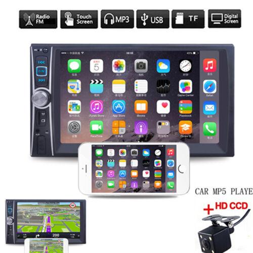 "Car HD Video MP5 Player 2 Din 6.6/"" Touch Screen FM Bluetooth Radio Audio Camera"
