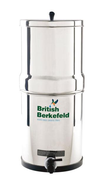 British Berkefeld Gravity Water Filter System Stainless Steel Super Sterasyl