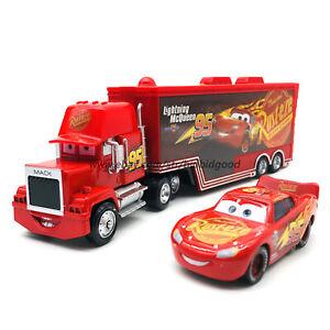 Disney-Pixar-Cars-Lightning-McQueen-3-Hauler-Truck-1-55-Diecast-Model-Loose-Toys