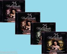 Unforgettable Songs 4CD Lot Classic 50s 60s BROOK BENTON LENA HORNE FANNY BRICE