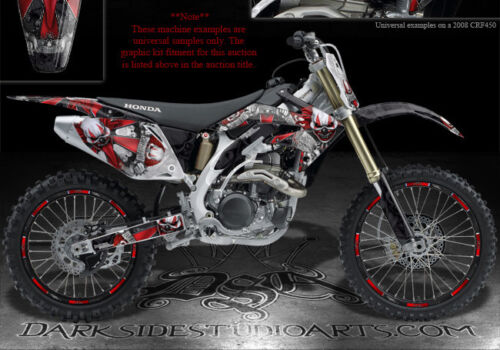 """HONDA 2002-2004 CRF450 CRF450 GRAPHICS DECALS  FOR RED PLASTICS /""""THE FREAK SHOW/"""""""