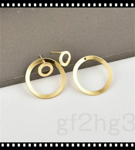 Simple Round Ear Women Circle Ear Studs Earring Minimalist Gold Earrings Jewelry