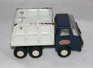 Tonka Mound Minn Blue And White Small Dump Truck Pressed