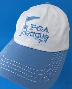 PGA Junior League Golf Baseball Cap White Cotton Hat Blue ...