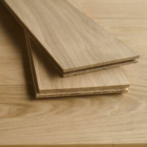 150x15mm Premium Solid Oak Flooring - Unfinished Wood - Square Edge Planks D45P