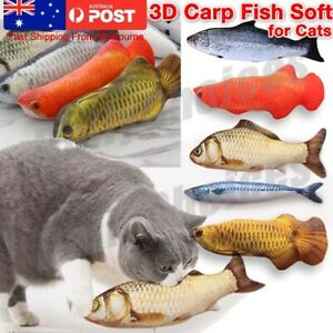 Pet Cat Pillow Scratch  Fish Crazy Chew Catnip Toy Teeth Grinding Play Toys Gift