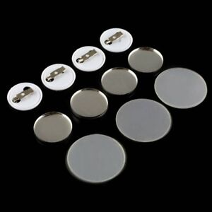 25mm-Round-Button-Badge-Plain-Metal-Plate-Pin-Badge-Maker-Parts-Components-100PC
