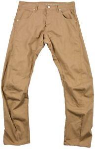 Jack-amp-Jones-Homme-Pantalon-Jean-Marron-Sable-Polyester-Bouton-Poche-34-34