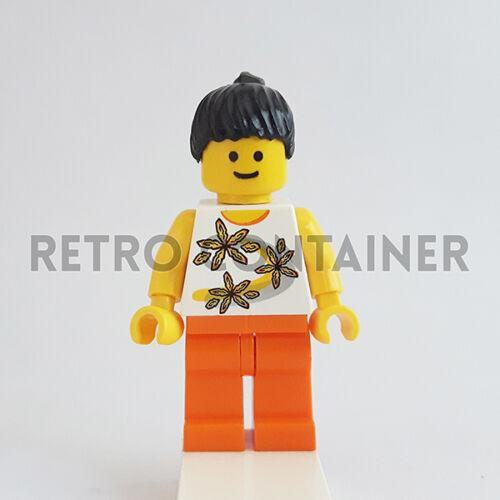 LEGO Minifigures Girl 1x twn062 Flower Shirt Omino Minifig Set 9322