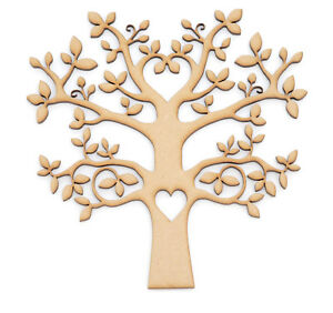 Mdf Tree Shape Wooden Craft Blank Wedding Guestbook Family Tree