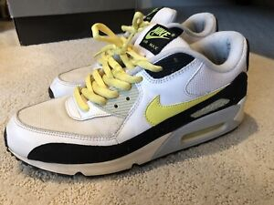 separation shoes 7fe0d 3d8ae Image is loading Nike-Air-Max-90-White-Hot-Lime-Black-
