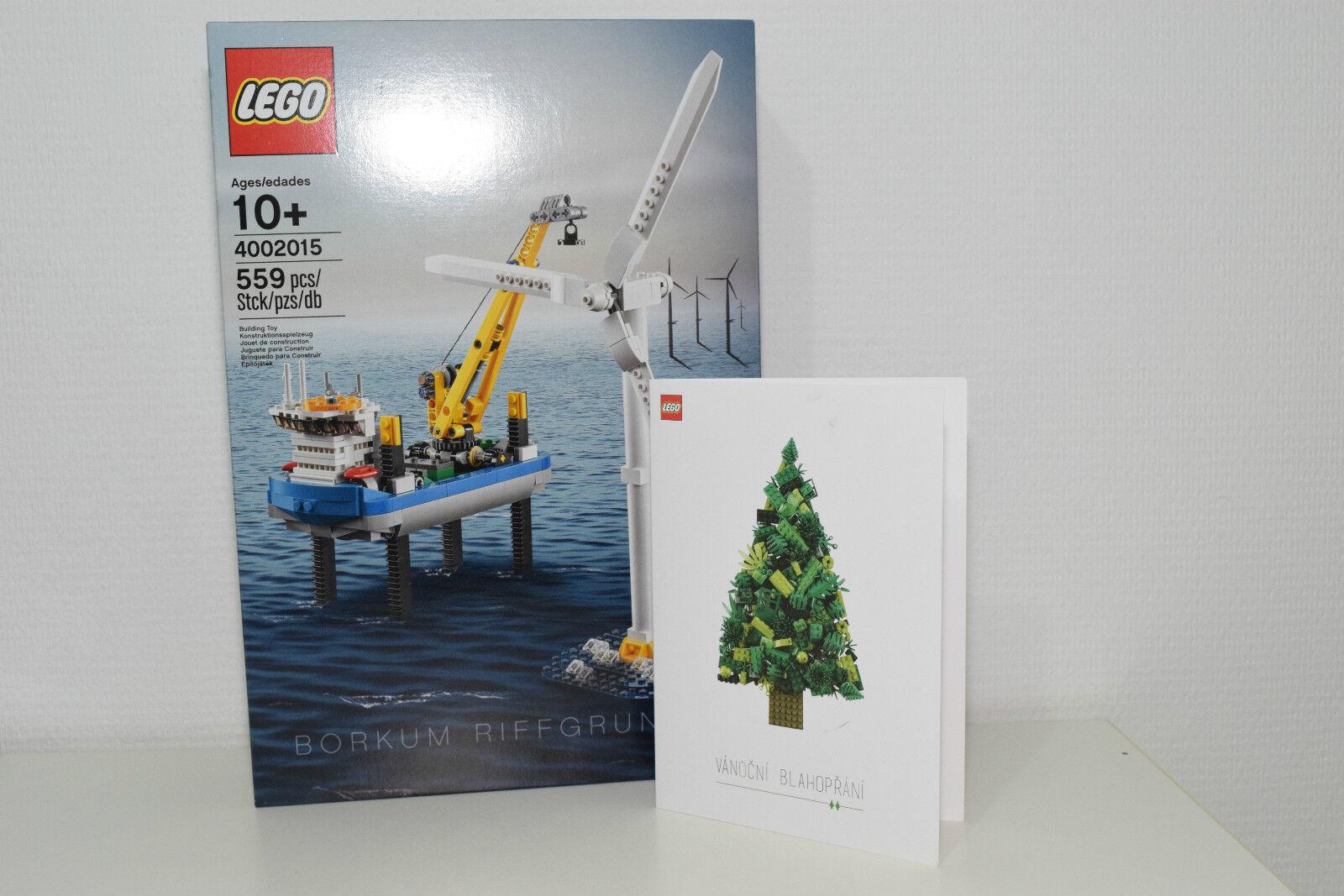 LEGO 4002015 BORKUM RIFFGRUND 1 MISB NEW SEALED WITH CHRISTMAS CARD RARE SELTEN