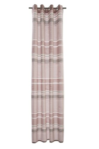 Ösenschal Gardine Vorhang Homing blickdicht Trevis Floral Streifen altrosa 5032