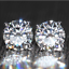 4Ct-Round-Cut-Moissanite-Screw-Back-Solitaire-Stud-Earring-14K-White-Gold-Finish thumbnail 1
