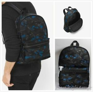 9c47b42e5342 Image is loading New-Authentic-Michael-Kors-Kent-Camouflage-Nylon-Backpack-