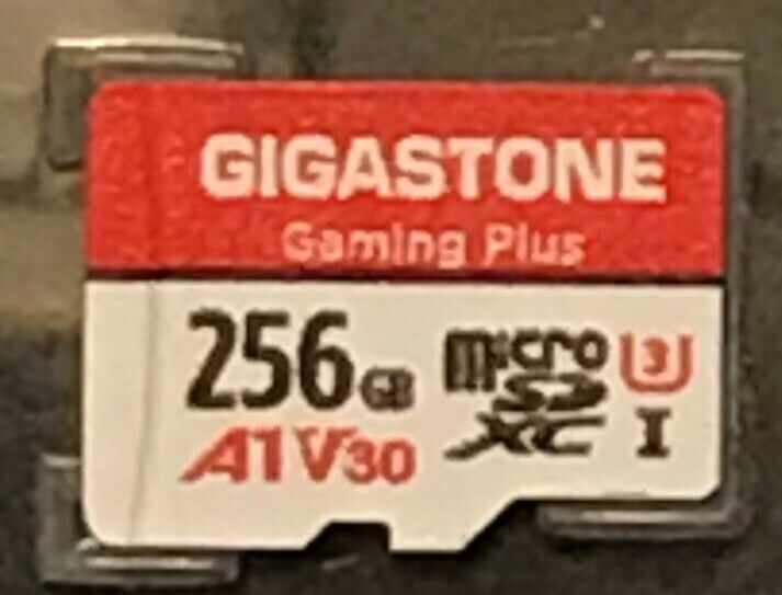 Gigastone Gaming Plus 256 GB Micro SD Card with Adapter NEW Open Box