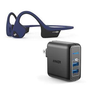 AfterShokz-Trekz-Air-Blue-BT-Headphones-w-2-Port-USB-Wall-Charger