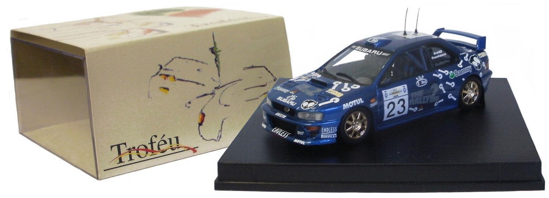 Trofeu 1124 Subaru Impreza Wrc Acropolis Rally 2000-Arai 1 43 Escala