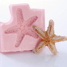 Seashell Starfish Silicone Mold use with Fondant Chocolate Polymer Clay (837)