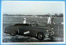 "12 By 18"" Black & White Picture 1952 Chevrolet Convertible Top Down"